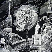 """Картины и панно ручной работы. Ярмарка Мастеров - ручная работа Панно """"Черно-белый этюд"""". Handmade."""