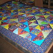 Для дома и интерьера ручной работы. Ярмарка Мастеров - ручная работа лоскутное покрывало Из сундука. Handmade.