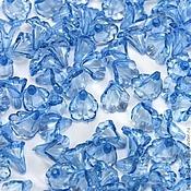 Материалы для творчества ручной работы. Ярмарка Мастеров - ручная работа Бусины акриловые Цветы каллы По 20 шт голубые. Handmade.