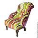 Мебель ручной работы. Ярмарка Мастеров - ручная работа. Купить Дизайнерское кресло patchwork. Handmade. Кресло, кресло пэчворк