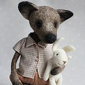"""Куклы и игрушки ручной работы. Ярмарка Мастеров - ручная работа """"Серенький Волчок"""", волчонок-тедди. Handmade."""