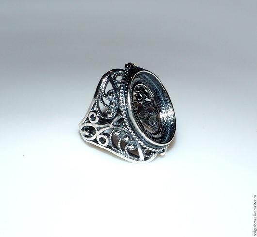 """Для украшений ручной работы. Ярмарка Мастеров - ручная работа. Купить Основа для кольца """"Анастасия"""" - серебрение 925 пробы. Handmade."""