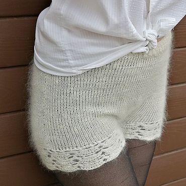Одежда ручной работы. Ярмарка Мастеров - ручная работа Шорты теплые с ажуром. Handmade.