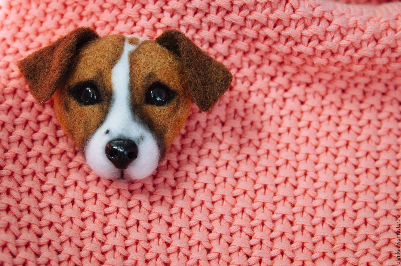 Купить Брошь портретная Джек рассел терьер - собака, щенок ...
