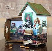 Для дома и интерьера handmade. Livemaster - original item mad tea party, a tray and a tea house. Handmade.