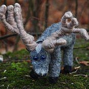 Куклы и игрушки handmade. Livemaster - original item So here you are, Reindeer!..felted toys. Handmade.