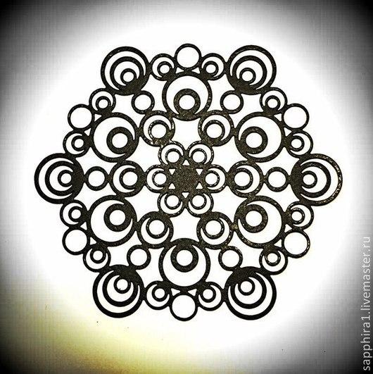 Для украшений ручной работы. Ярмарка Мастеров - ручная работа. Купить Подвеска ажурная черная 10. Handmade. Черный