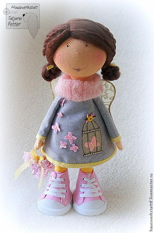 Коллекционные куклы ручной работы. Ярмарка Мастеров - ручная работа. Купить Текстильная кукла Инна. Handmade. Розовый, подарок женщине