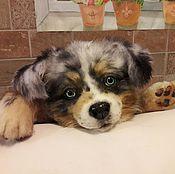 Куклы и игрушки ручной работы. Ярмарка Мастеров - ручная работа щенок Австралийской овчарки. Handmade.