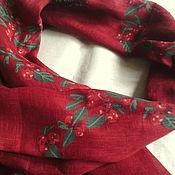 Аксессуары ручной работы. Ярмарка Мастеров - ручная работа палантин - шарф  льняной. Handmade.