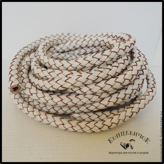 Для украшений ручной работы. Ярмарка Мастеров - ручная работа. Купить Белый полый плетеный шнур 9мм Испания. Handmade.