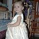 Одежда для девочек, ручной работы. Ярмарка Мастеров - ручная работа. Купить Нарядное платье. Handmade. Кремовый, детский праздник, гипюр