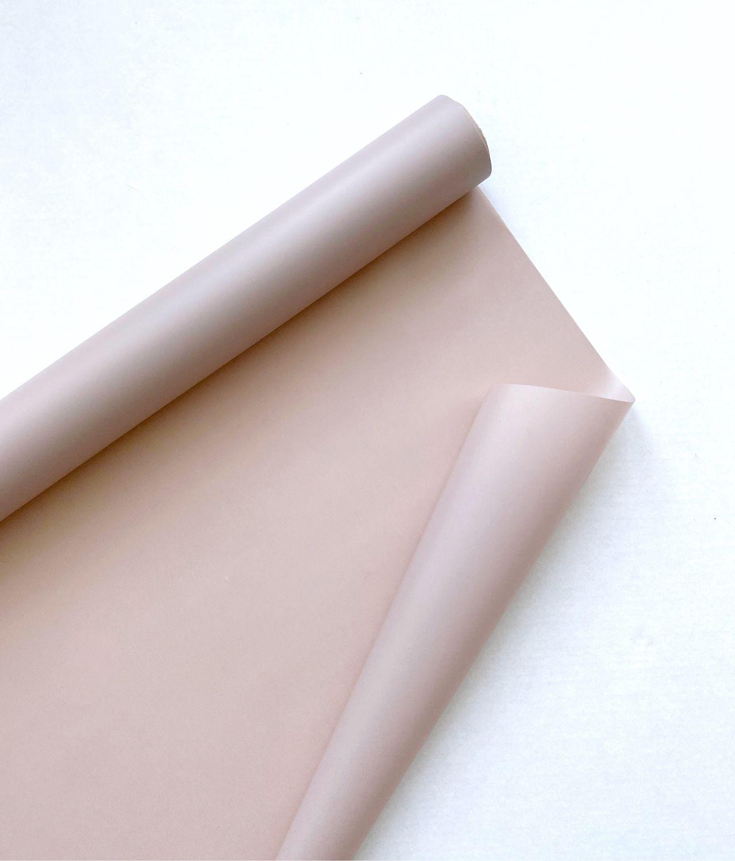 Пленка для цветов, матовая, 0,6х10 метров (кофе с молоком), Упаковочная бумага, Москва,  Фото №1