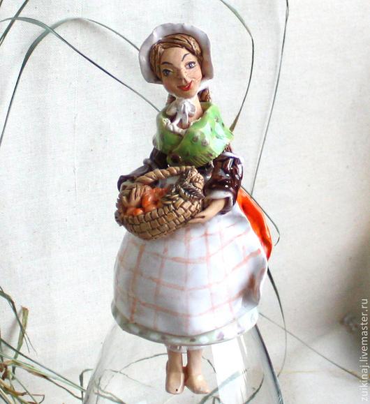 """Колокольчики ручной работы. Ярмарка Мастеров - ручная работа. Купить Колокольчик """"Абрикос с базиликом"""". Handmade. Рыжий, абрикосы, фрукты"""