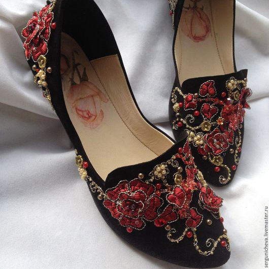 """Обувь ручной работы. Ярмарка Мастеров - ручная работа. Купить Балетки""""Wild Garden""""в стиле DG. Handmade. В стиле дольче габбана"""