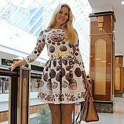 """Одежда ручной работы. Ярмарка Мастеров - ручная работа Платье из джерси """"Монетный двор"""". Handmade."""