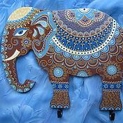 Сказочный Слон  Интерьерное панно с крючками