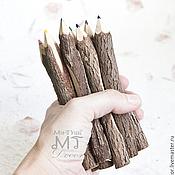 Канцелярские товары ручной работы. Ярмарка Мастеров - ручная работа Набор цветных карандашей. Handmade.
