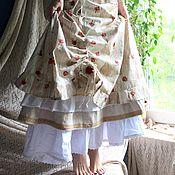 Одежда ручной работы. Ярмарка Мастеров - ручная работа Нежная летняя юбочка с розочками. Handmade.
