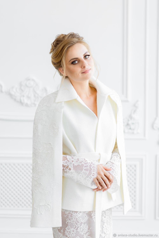 Свадебное Пальто Белое Женское Пальто «Кэйп Кетрин», Накидки, Москва,  Фото №1