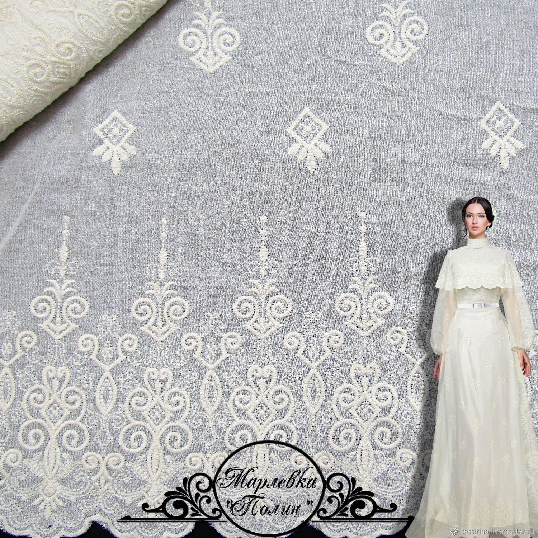"""Марлевка с вышивкой """"Полин"""" итальянские ткани, Ткани, Сочи,  Фото №1"""