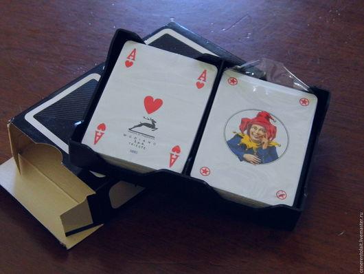 Винтажные куклы и игрушки. Ярмарка Мастеров - ручная работа. Купить винтажные игральные карты. Handmade. Комбинированный, винтажные карты, карты