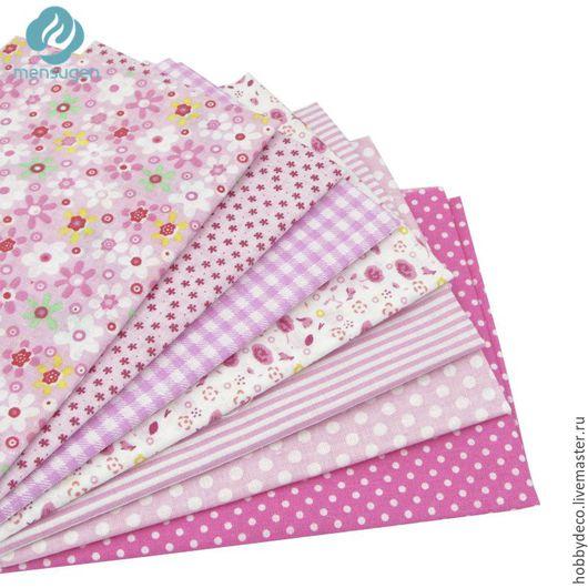 """Шитье ручной работы. Ярмарка Мастеров - ручная работа. Купить Набор тканей """" В розовых тонах"""". Handmade. Розовый"""