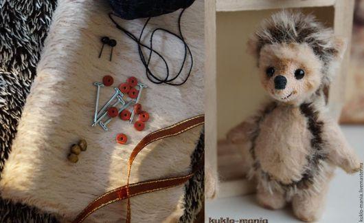 Мишки Тедди ручной работы. Ярмарка Мастеров - ручная работа. Купить Набор для создания ёжика-тедди 7 см.. Handmade.