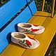 """Обувь ручной работы. Тапочки """"  красная смородина"""". Гулия. Ярмарка Мастеров. Тапочки из шерсти, тапки из войлока"""