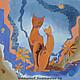 Текстиль, ковры ручной работы. Заказать подушка Свидание. Елена Моф (elenamof). Ярмарка Мастеров. Батик, крепдешин