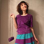 Одежда handmade. Livemaster - original item Suede top. Handmade.