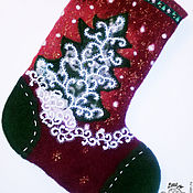 Подарки к праздникам ручной работы. Ярмарка Мастеров - ручная работа Рождественский носок. Handmade.