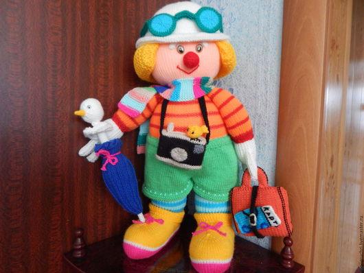 Человечки ручной работы. Ярмарка Мастеров - ручная работа. Купить Клоун путешественник. Handmade. Ручная работа, связано с любовью