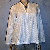 Одежда ручной работы. Ярмарка Мастеров - ручная работа Блуза из шитья ( белая) 3. Handmade.