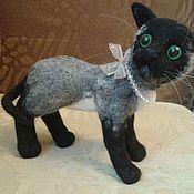 Куклы и игрушки ручной работы. Ярмарка Мастеров - ручная работа валяная игрушка котенок. Handmade.