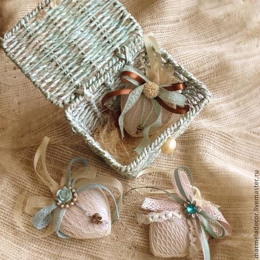 Комплекты аксессуаров ручной работы. Ярмарка Мастеров - ручная работа. Купить Подарочный набор елочных игрушек в винтажном стиле. Handmade.