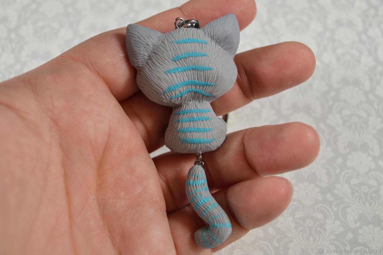 Брелок из полимерной глины Маленький Чешир