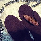 Аксессуары ручной работы. Ярмарка Мастеров - ручная работа мужские варежки  эксклюзивного состава,  варежки для нежной кожи рук. Handmade.