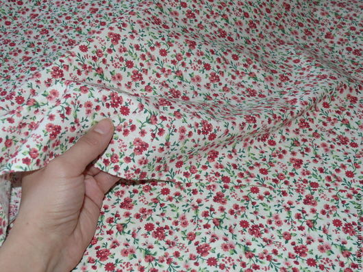 Арт. 089 Цвет: мелкий розовый цветок \Состав: хлопок 100% Поплин Плотность: 180г/м2 Ширина: 220см
