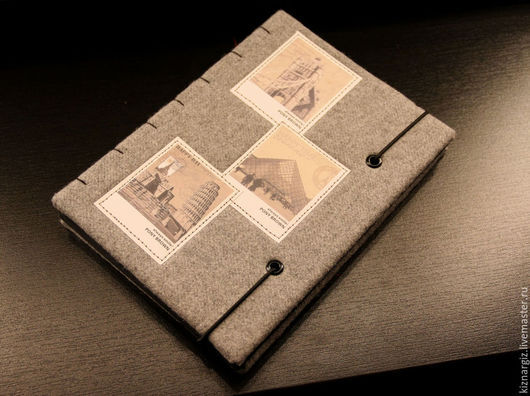 Блокноты ручной работы. Ярмарка Мастеров - ручная работа. Купить Твидовый блокнот-эскизник,формат А5.. Handmade. Черный, для записей