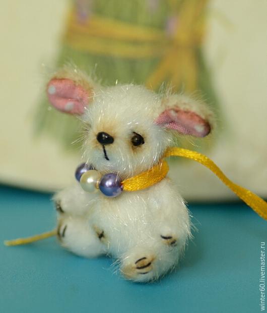 Мишки Тедди ручной работы. Ярмарка Мастеров - ручная работа. Купить Собачка Жулька. Handmade. Белый, мех для миниатюры