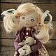 Коллекционные куклы ручной работы. Ярмарка Мастеров - ручная работа. Купить Ася. Handmade. Бордовый, кукла для девочки, текстильная кукла