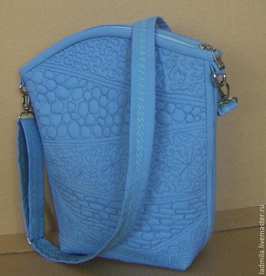 """Женские сумки ручной работы. Ярмарка Мастеров - ручная работа. Купить Сумка """"Sineva"""". Handmade. Голубой, сумка на каждый день"""