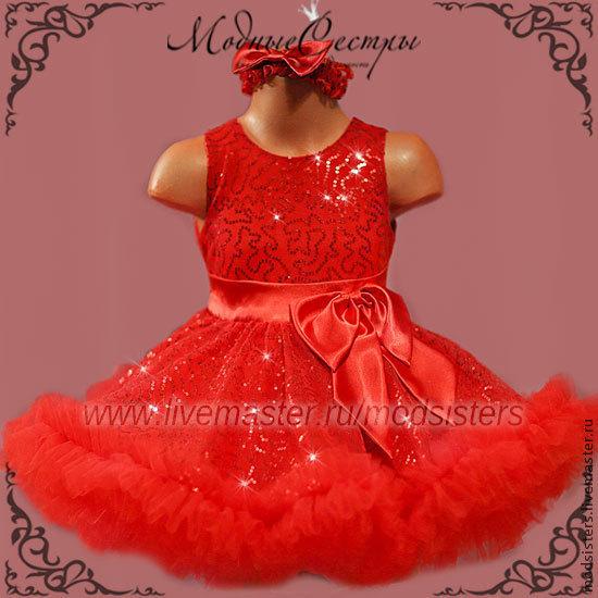 Baby dress 'deep red' Art.205, Childrens Dress, Nizhny Novgorod,  Фото №1