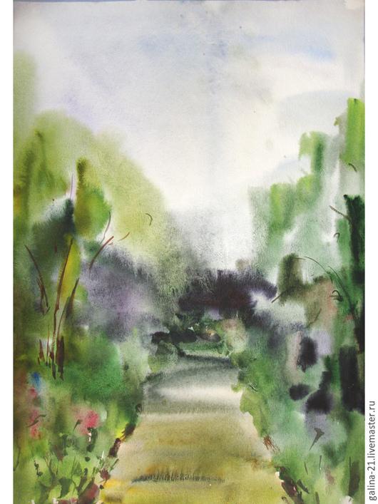 """Пейзаж ручной работы. Ярмарка Мастеров - ручная работа. Купить Два пейзажа """"После дождя"""". Handmade. Картина, после дождя"""