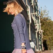 Одежда ручной работы. Ярмарка Мастеров - ручная работа Джемпер из хлопка с бусинами. Handmade.