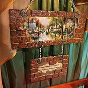 """Для дома и интерьера ручной работы. Ярмарка Мастеров - ручная работа Ключница  """"Напоминание""""  в прихожую. Handmade."""