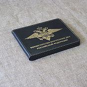 Канцелярские товары handmade. Livemaster - original item Cover for the identity of the Ministry of interior. black. Handmade.