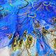 """Шали, палантины ручной работы. Ярмарка Мастеров - ручная работа. Купить палантин """"Птица счастья"""". Handmade. Синий, палантин"""