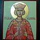 Иконы ручной работы. Ярмарка Мастеров - ручная работа. Купить ЕКАТЕРИНА АЛЕКСАНДРИЙСКАЯ , святая великомученица ,рукописная икона. Handmade.